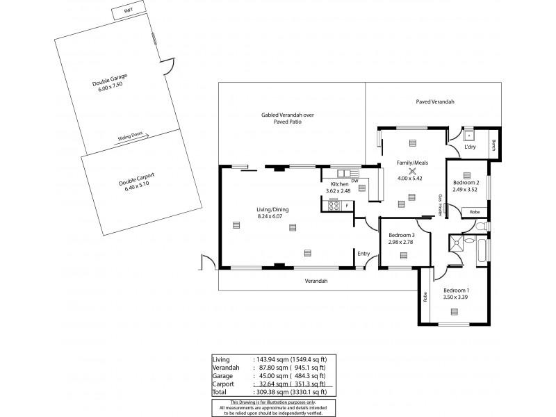 4 Grassdale Rise, Aberfoyle Park SA 5159 Floorplan