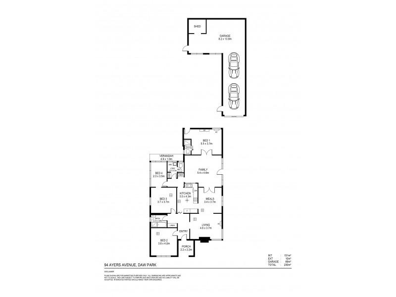 94 Ayers Avenue, Daw Park SA 5041 Floorplan