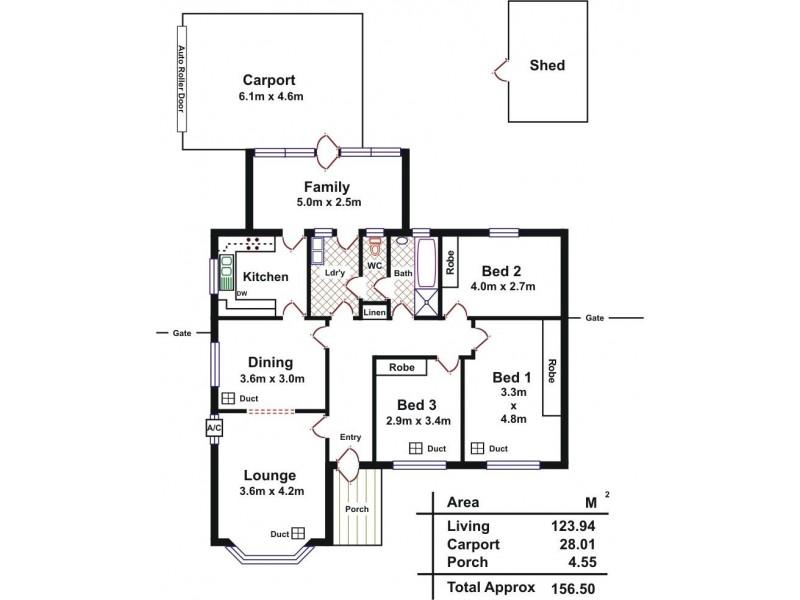 203 Grange Road, Findon SA 5023 Floorplan