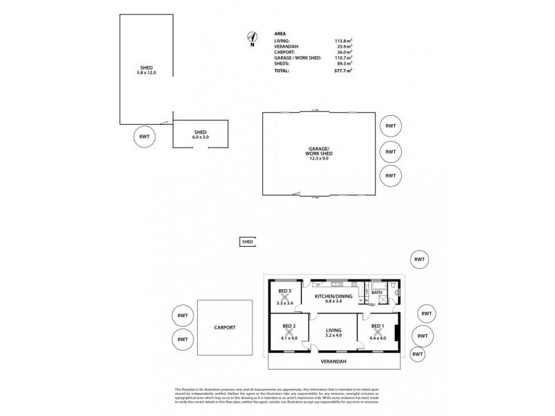 7-9 Marroo Street, Milang SA 5256 Floorplan