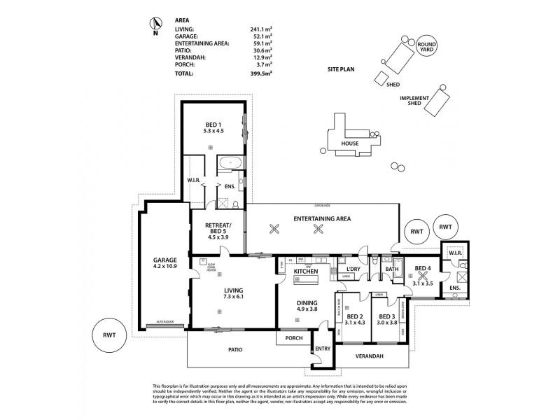 21 Main Road, Finniss SA 5255 Floorplan