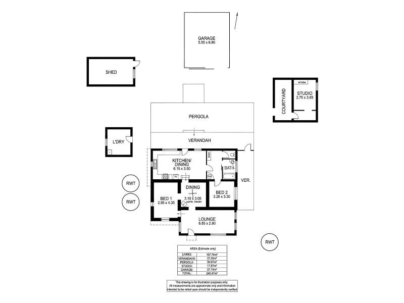 3257 Strathalbyn Road, Strathalbyn SA 5255 Floorplan