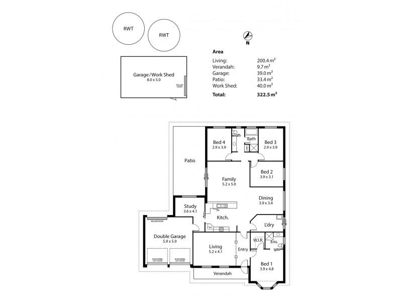 2 Brumfield Court, Strathalbyn SA 5255 Floorplan