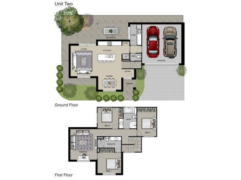 2 and 3, 34 Ferris Street, Christies Beach SA 5165 Floorplan