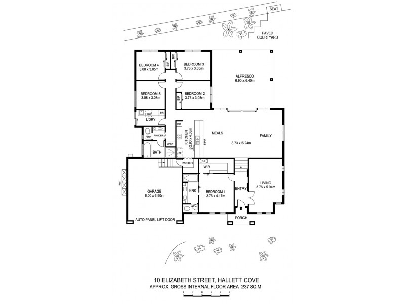 10 Elizabeth Crescent, Hallett Cove SA 5158 Floorplan
