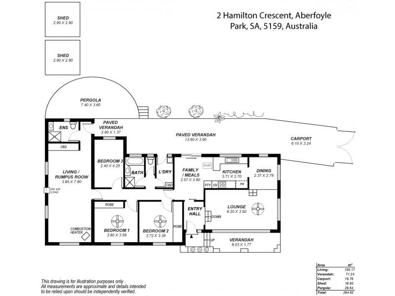 2 Hamilton Crescent, Aberfoyle Park SA 5159 Floorplan