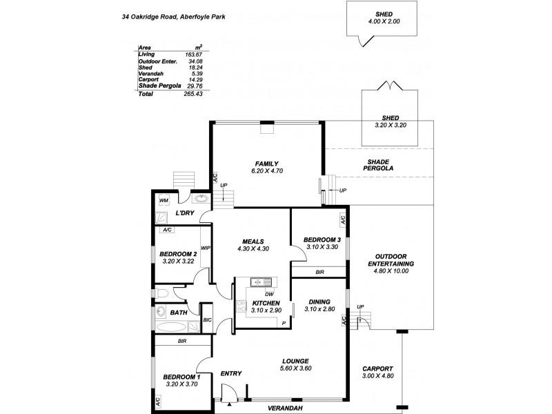 34 Oakridge Road, Aberfoyle Park SA 5159 Floorplan