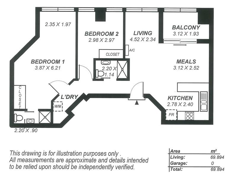 121/65 King William Street, Adelaide SA 5000 Floorplan