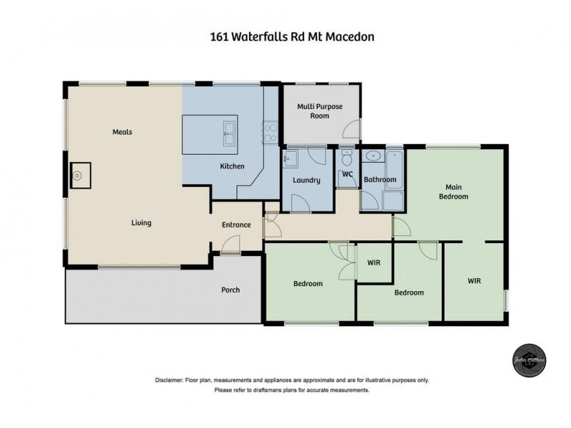 161 Waterfalls Road, Mount Macedon VIC 3441 Floorplan