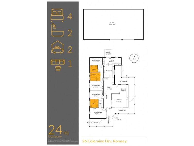 26 Coleraine Drive, Romsey VIC 3434 Floorplan