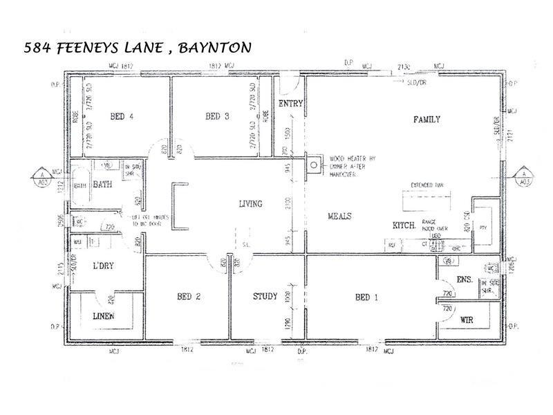 584 FEENEYS RD, Baynton VIC 3444 Floorplan