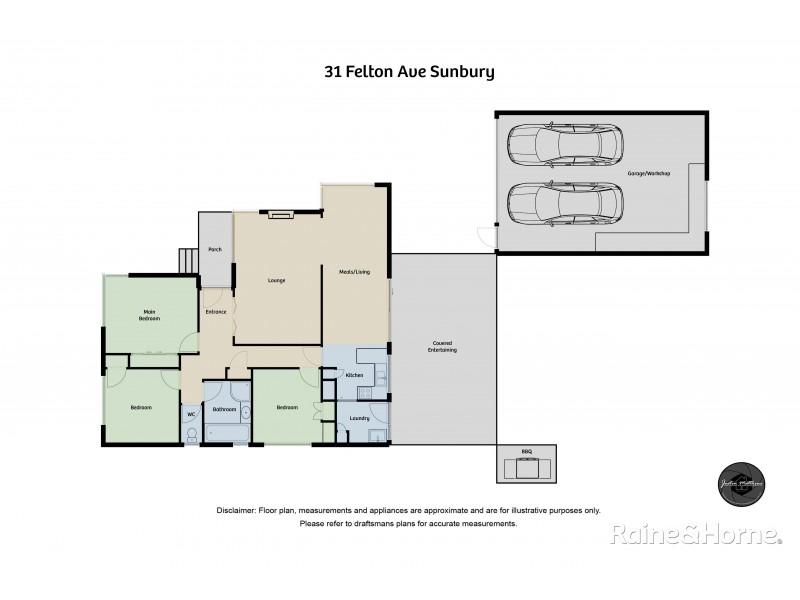 31 Felton Avenue, Sunbury VIC 3429 Floorplan