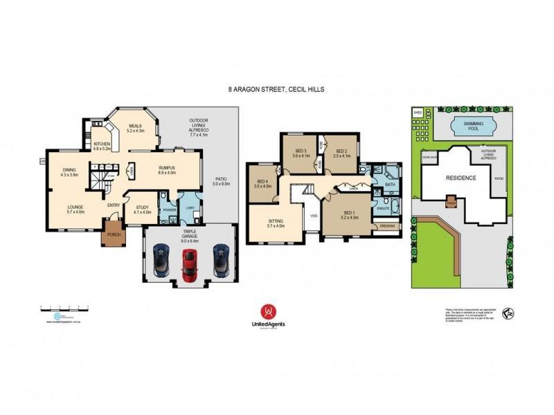 8 Aragon Street, Cecil Hills NSW 2171 Floorplan