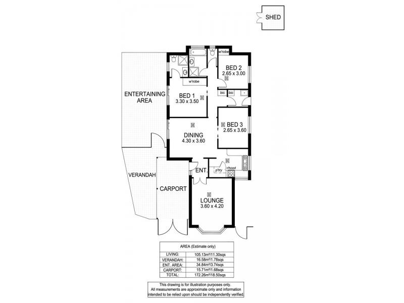 6 Cassia Court, Aberfoyle Park SA 5159 Floorplan