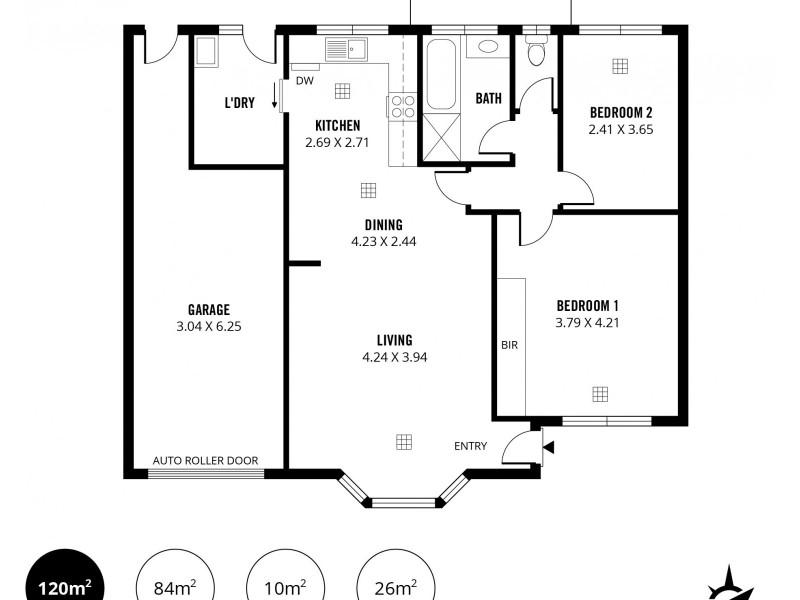 3/9A Cuthero Terrace, Kensington Gardens SA 5068 Floorplan