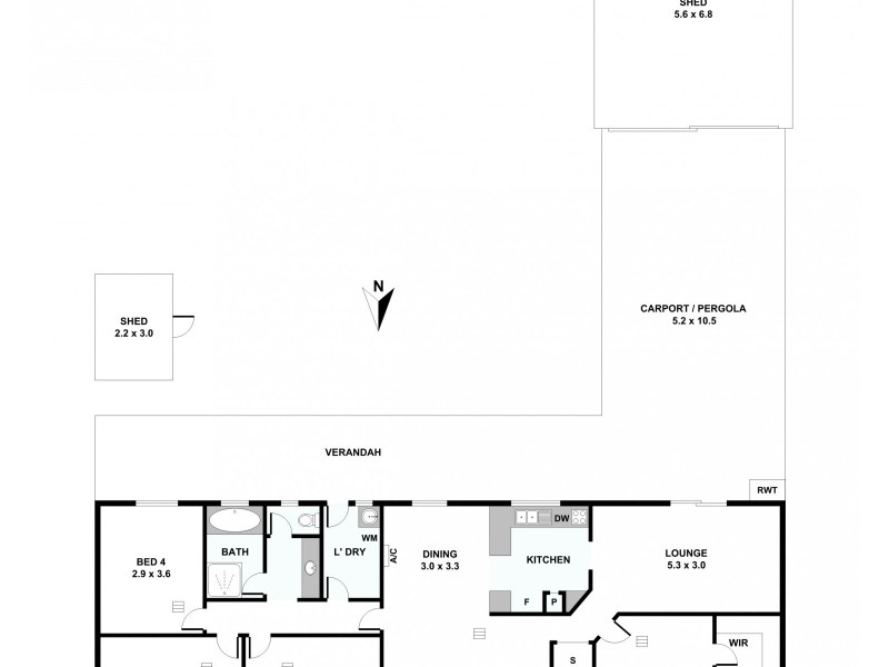 2 Friedrich Street, Freeling SA 5372 Floorplan