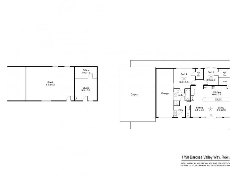 1798 Barossa Valley Way, Rowland Flat SA 5352 Floorplan