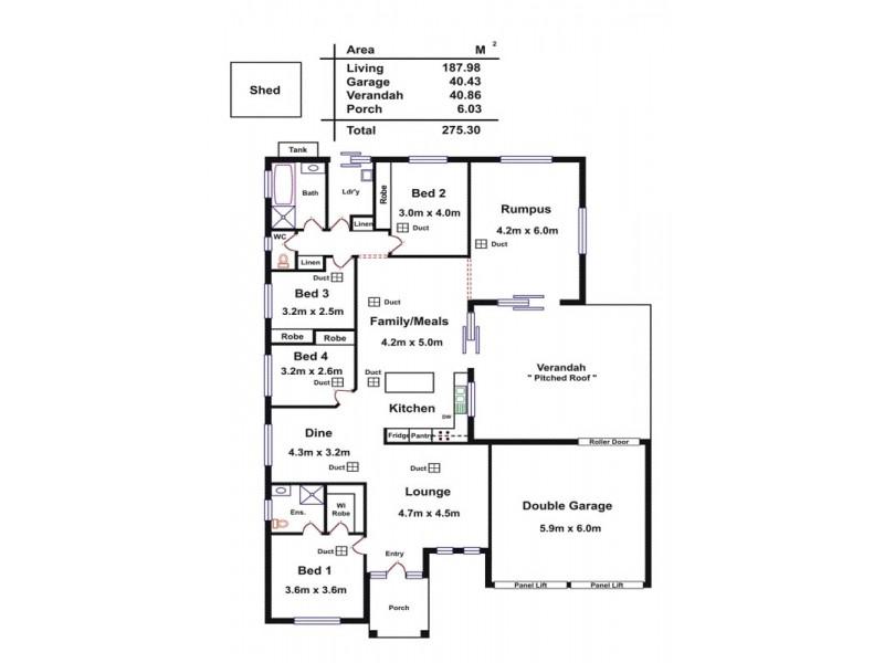77 Lakeside Drive, Andrews Farm SA 5114 Floorplan