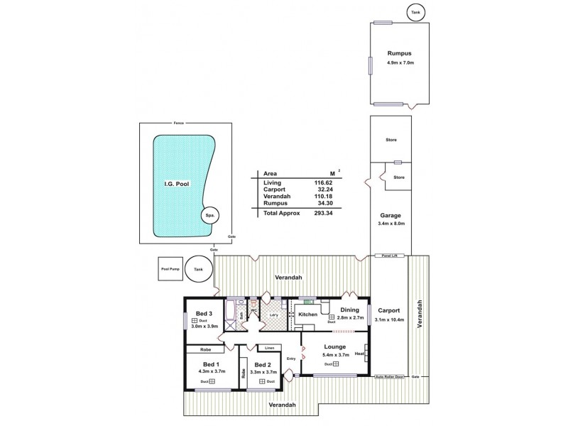 80 Queen Street, Williamstown SA 5351 Floorplan