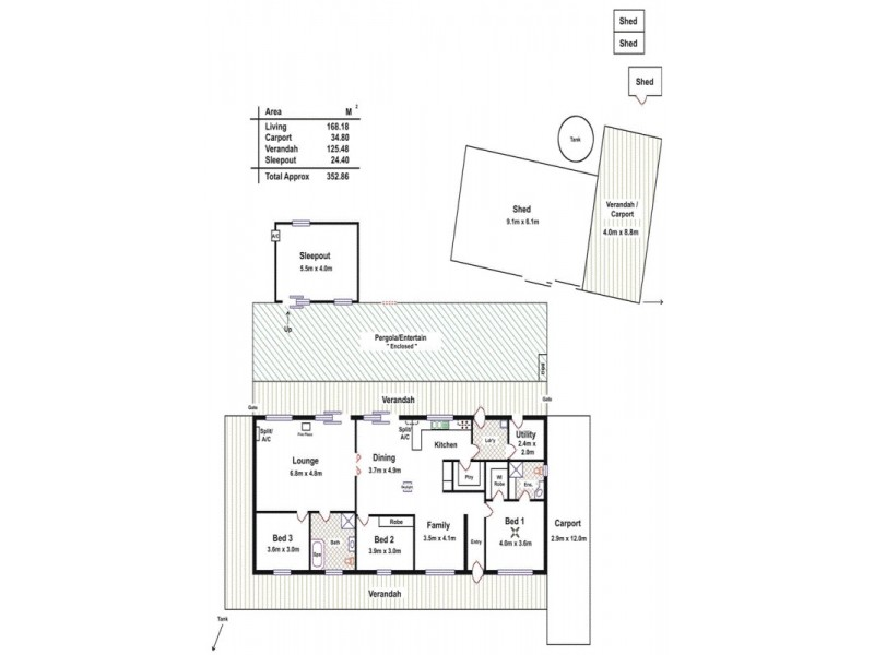 70 Dawkins Road, Lewiston SA 5501 Floorplan