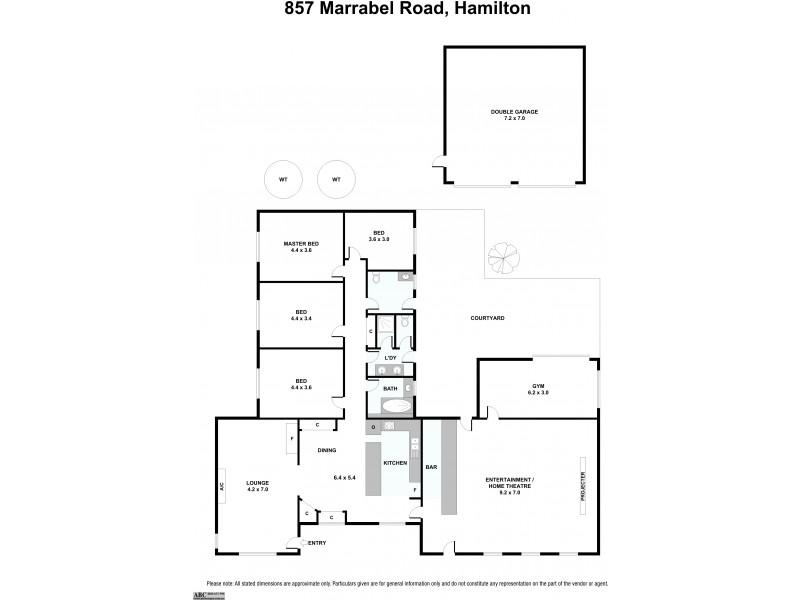 857 Marrabel Road, Hamilton SA 5373 Floorplan
