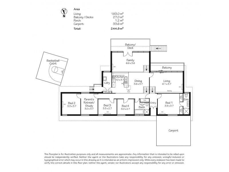 110 Emmett Road, Crafers West SA 5152 Floorplan