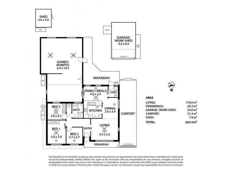 56 Southbound Avenue, Aberfoyle Park SA 5159 Floorplan