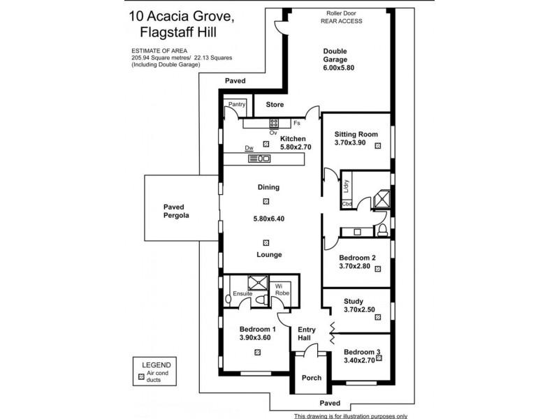 10 Acacia Grove, Flagstaff Hill SA 5159 Floorplan