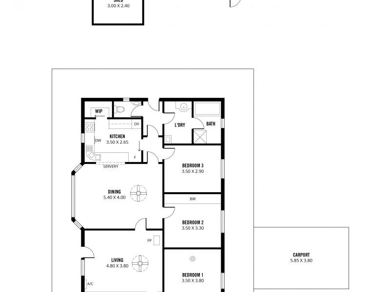 90 Totness Road, Totness SA 5250 Floorplan