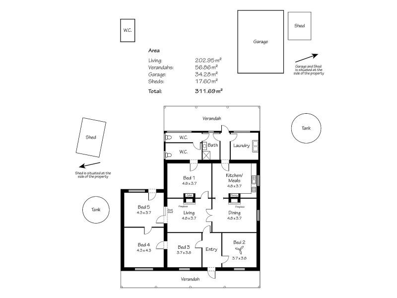 700 South Bremer Road, Strathalbyn SA 5255 Floorplan