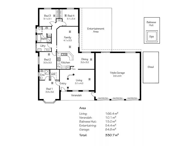 6 Strathoak Crescent, Strathalbyn SA 5255 Floorplan