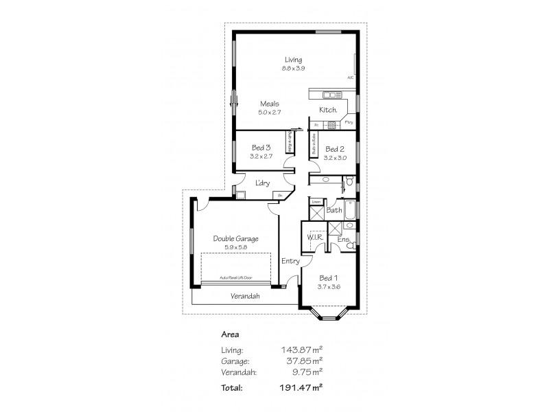 16 Strathoak Crescent, Strathalbyn SA 5255 Floorplan