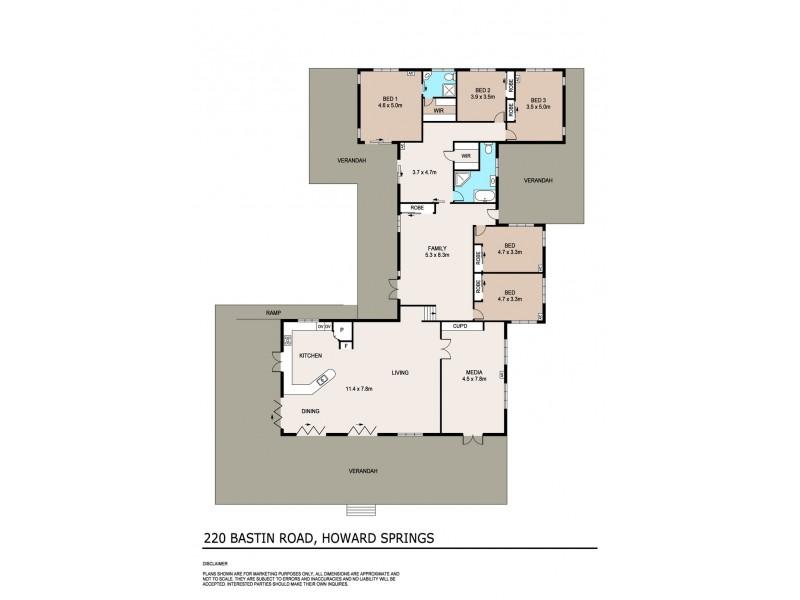 220 Bastin Road, Howard Springs NT 0835 Floorplan