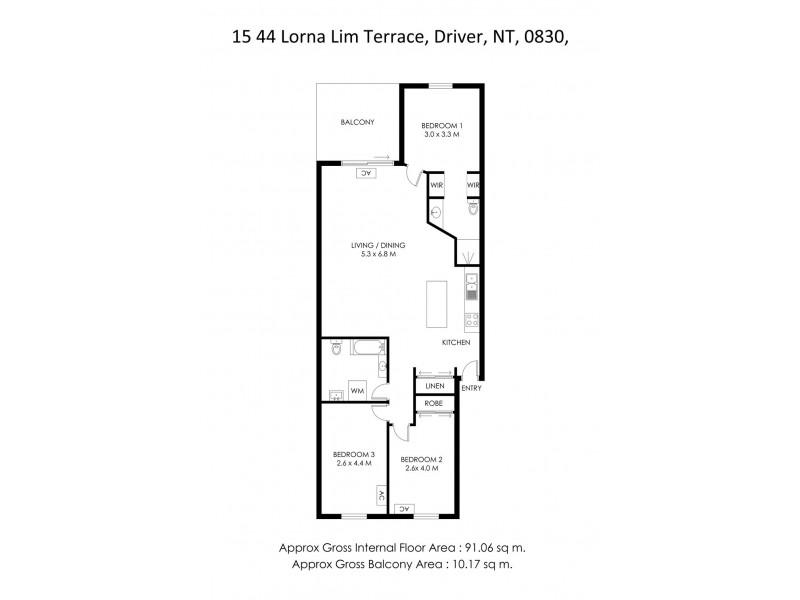15/44 Lorna Lim Terrace, Driver NT 0830 Floorplan
