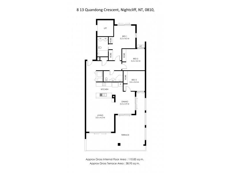 8/13 Quandong Crescent, Nightcliff NT 0810 Floorplan