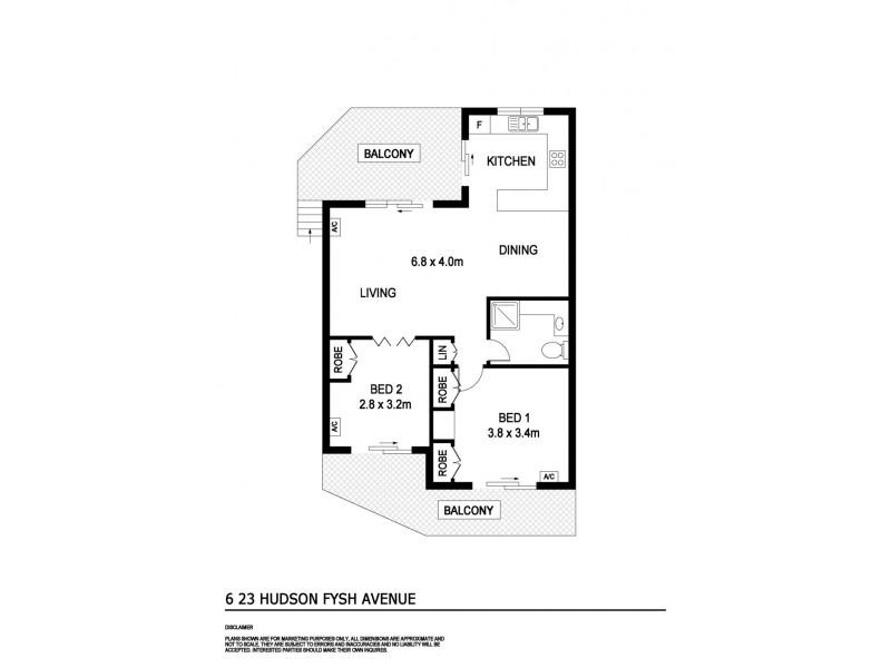 6/23 Hudson Fysh Avenue, Parap NT 0820 Floorplan