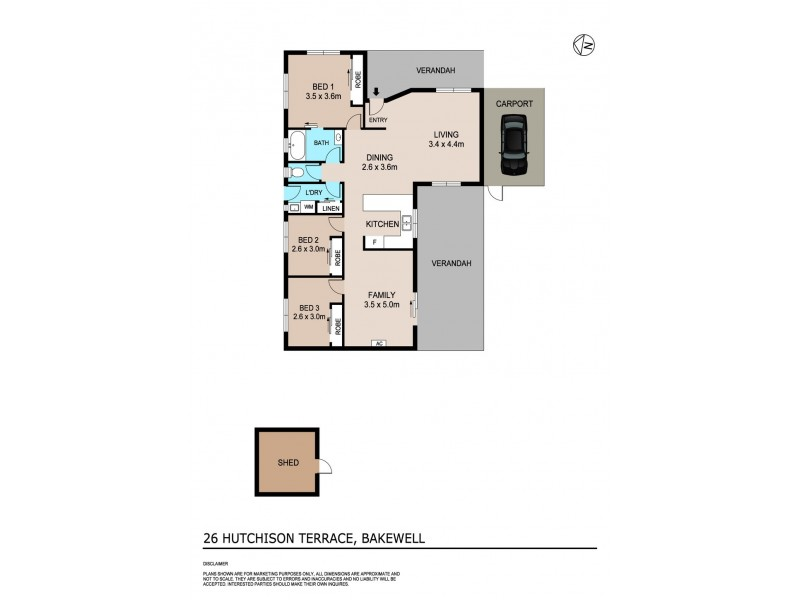 26 Hutchison Terrace, Bakewell NT 0832 Floorplan
