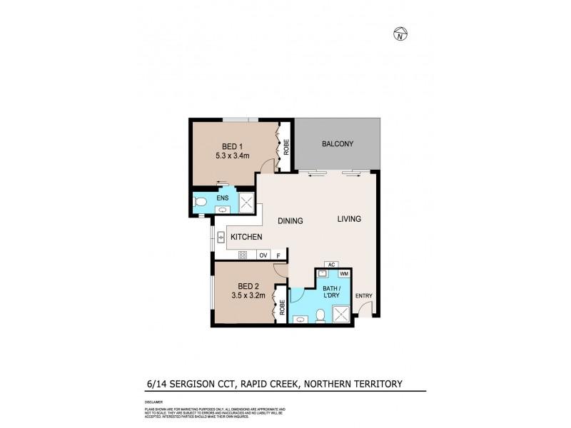 6/14 Sergison Circuit, Rapid Creek NT 0810 Floorplan