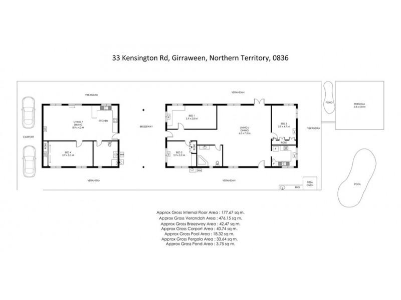 33 Kensington Road, Girraween NT 0836 Floorplan