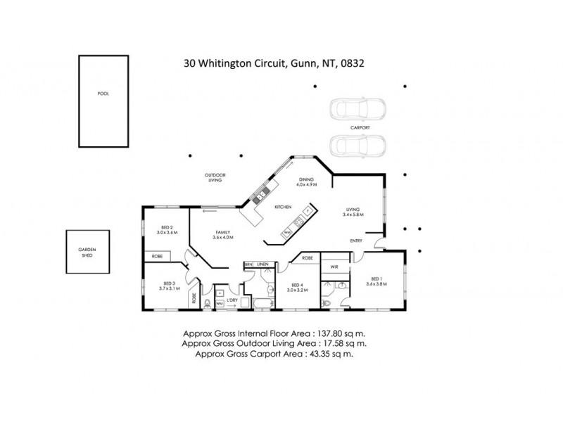 30 WHITINGTON CIRCUIT, Gunn NT 0832 Floorplan