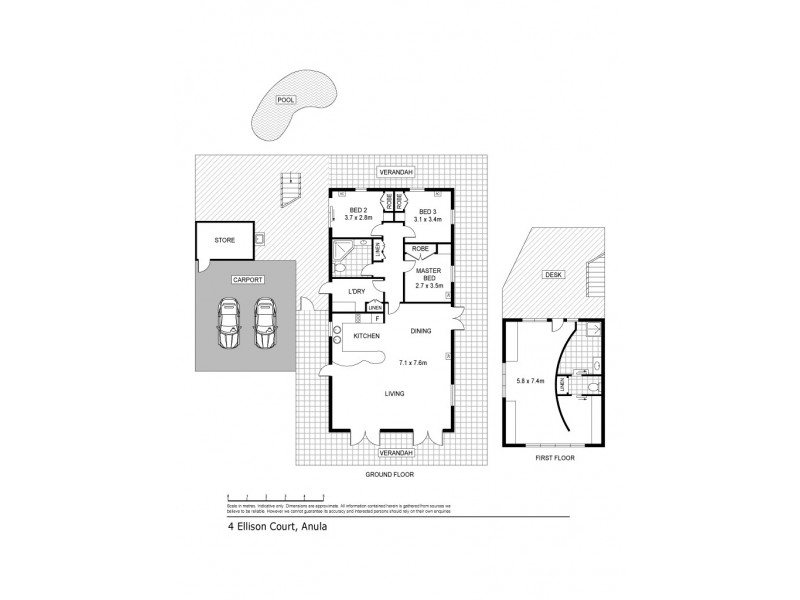 4 Ellison Court, Anula NT 0812 Floorplan