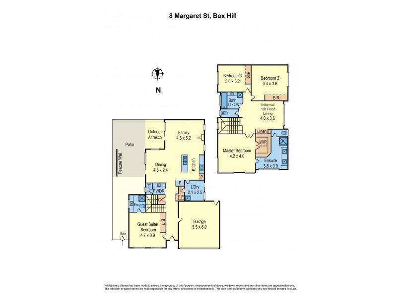 8 Margaret Street, Box Hill VIC 3128 Floorplan