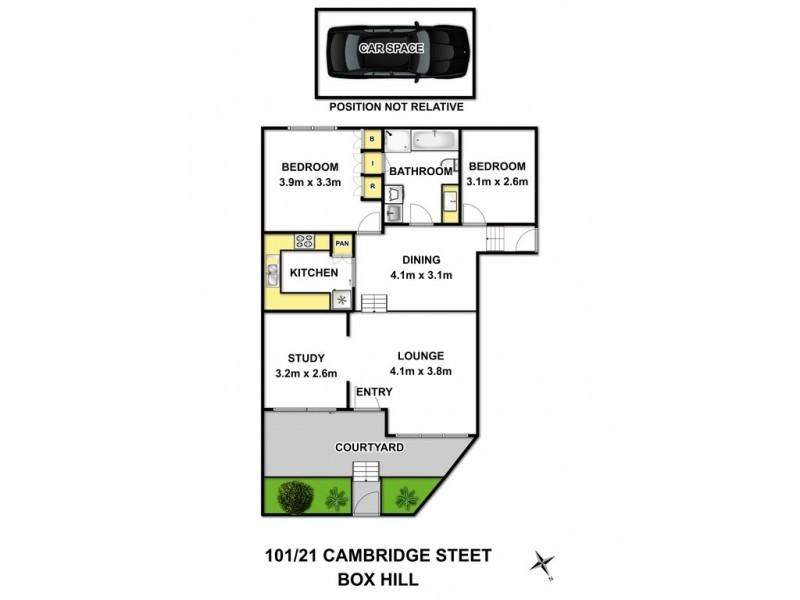 101/21 Cambridge Street, Box Hill VIC 3128 Floorplan