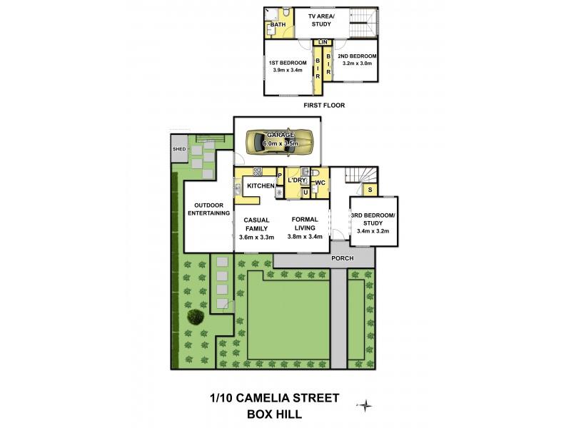 1/10 Camelia Street, Box Hill VIC 3128 Floorplan