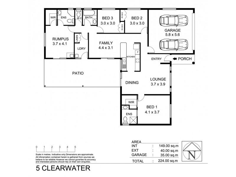 5 Clearwater Court, Bushland Beach QLD 4818 Floorplan