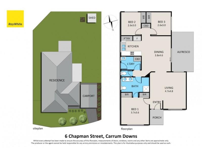 6 Chapman Street, Carrum Downs VIC 3201 Floorplan
