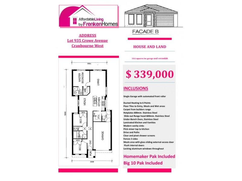 Lot 935 Crowe Avenue, Cranbourne West VIC 3977
