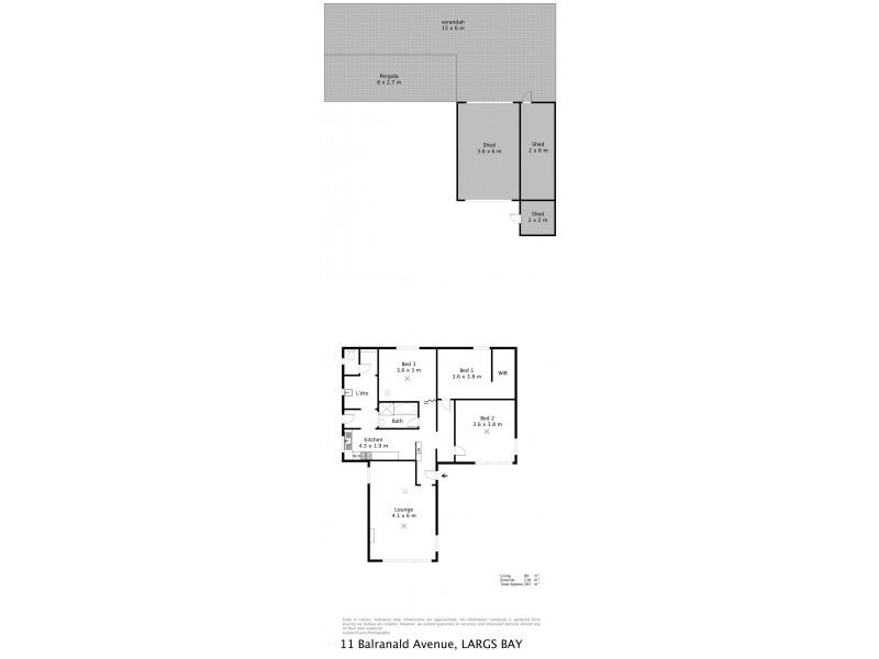 11 Balranald Street, Largs Bay SA 5016 Floorplan