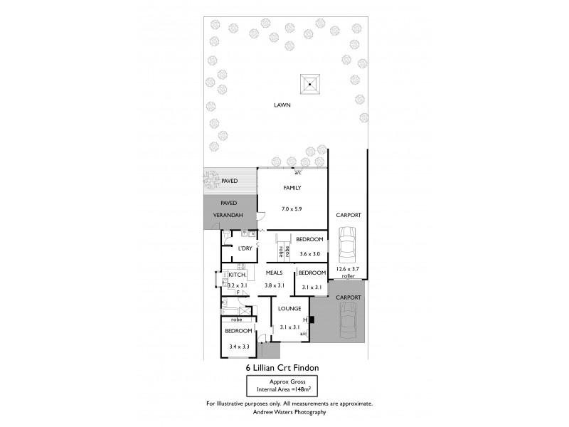6 Lillian Street, Findon SA 5023 Floorplan