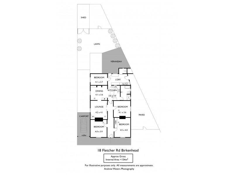 18 Fletcher Road, Birkenhead SA 5015 Floorplan